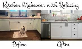 refacing reveal a kitchen makeover story redhead baby mama