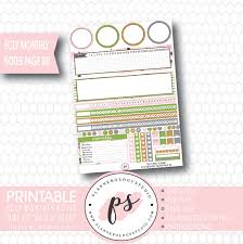 printable planner notes wild at heart monthly notes page kit printable planner stickers for