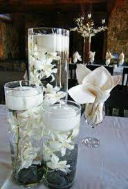 Tiffany Blue Wedding Centerpiece Ideas by White Flower Centerpiece Arrangement With The Vase Cover In