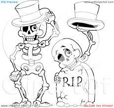 Halloween Skeleton Cartoon Halloween Cartoon Skeleton Clipart