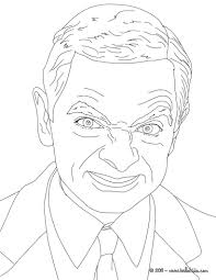 mr bean coloring page more famous people pages on mr