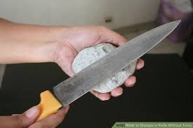 how to sharpen kitchen knives at home how to sharpen a knife without tools 8 steps with pictures