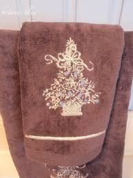 Christmas Towels Bathroom Botanic Bleu January 2016