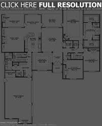 Single Story House Plans With 2 Master Suites 5 Bedroom 4 Bath House Plans Corglife One Story Floor Pinterest