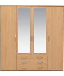 buy atlas 3 door tall wardrobe walnut effect at argos co uk