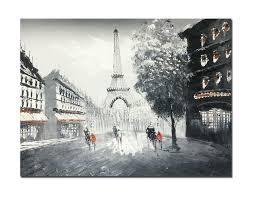 amazon com muzagroo art oil paintings hand painted paris eiffel