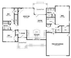 ranch home floor plan it would add a third garage bay and increase size of front