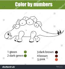coloring dinosaur stegosaurus color stock vector 626526563