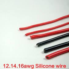 black red 14awg 16awg 12awg silicone wire quadcopter aeromodelismo