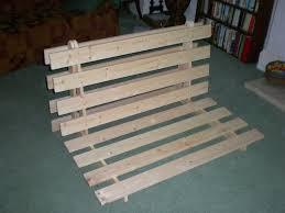 How To Make A Cheap Platform Bed Frame by How To Make A Fold Out Sofa Futon Bed Frame 14 Steps With Pictures