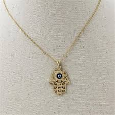 blue eye necklace images Gorgeous hand of fatima blue evil eye necklace project yourself jpg