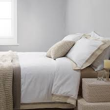 Pure Cotton Duvet Covers Natural Linen Border Pure Cotton Sateen Duvet Cover Set U2013 Daal U0027s Home