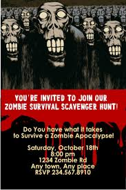 zombie apocalypse game printable scavenger hunt for your zombie