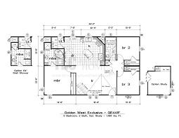 1 bedroom mobile homes floor plans floor plans golden exclusive series tlc manufactured homes
