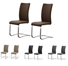Esszimmerstuhl Rattan Leder Stühle Für Freischwinger Ebay