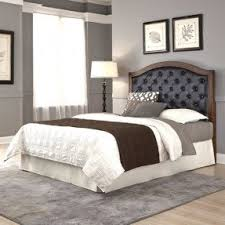 leather and wood headboard foter