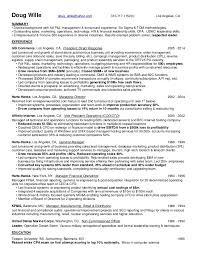 Results Based Resume Doug Wille Resume