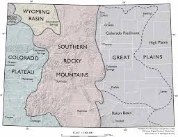 Colorado Front Range Map by Colorado Piedmont Between The High Plains And The Mountain Front