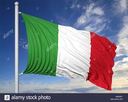 Flag Of Itali Italian Flag On Pole Stock Photos U0026 Italian Flag On Pole Stock