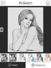 picsketch app for iphone ipad creates beautiful realistic pencil