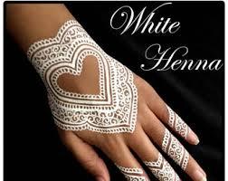 white henna tattoo etsy