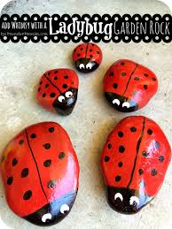 add a little whimsy make a painted ladybug garden rock