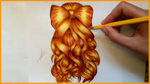 drawing a bow hairstyle youtube