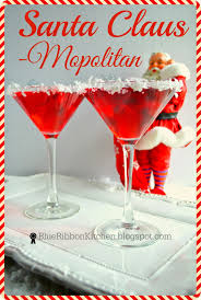 martini christmas blue ribbon kitchen santa claus mopolitan a signature holiday drink