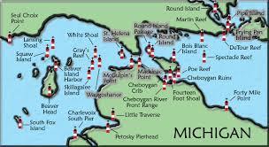 map of mackinac island mackinac straits michigan lighthouse map