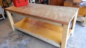Building A Wooden Desk Top by Building A Heavy Duty Workbench Youtube