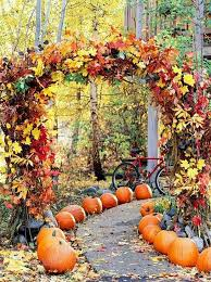 wedding arch leaves picture of fall leaves wedding arch