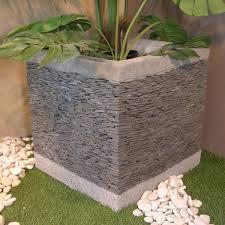 pas japonais en pierre naturelle pot de jardin en ardoise cube naturel h 50 cm