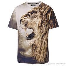 new stylish lion print t shirt men women brand tshirt fashion 3d t