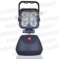 rechargeable magnetic work light 15w led rechargeable work light with strong magnet base shenzhen