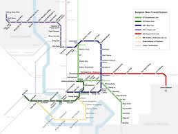 Bangkok Map Bangkok Transit Map U2013 Suvarnabhumi Airport Rail Link Train
