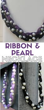pearl bead necklace diy images Ribbon and pearl necklace tutorial the crafty blog stalker jpg