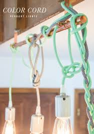 colored necklace cords images Hung color cord pendant lights girls room ideas pinterest png