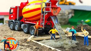 bruder truck construction company cement mixer mercedes benz