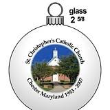 glass custom ornaments church