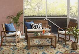 beachcrest home 4 piece lounge seating group with