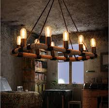 Cafe Pendant Lights Industrial L Rope L Light Fixtures 10 Lights Retro