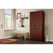 south shore storage cabinet south shore axess royal cherry storage cabinet 10184 the home depot
