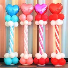 plastic balloons plastic balloon column base stand display kit birthday balloons