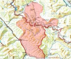 parks map wildfire causes closures in parts of kootenay and banff national