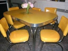 Retro Red Kitchen Chairs - home design elegant yellow kitchen table and chairs retro almost