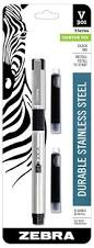 Rugged Fountain Pen Amazon Com Zebra V 301 Stainless Steel Fountain Pen With Refill