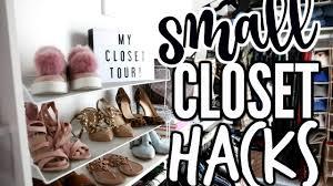 closet organization hacks my closet tour youtube