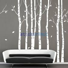 Wall Tree Decals For Nursery Shop Birch Tree Decal For Nursery On Wanelo
