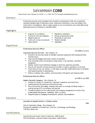 Resume With Community Service Resume Security Guard Sample Resume