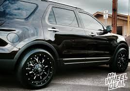 lifted 2013 ford explorer 20 9 fuel road krank wheels with 255 50 20 toyo proxes st ii